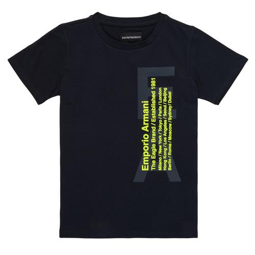 vaatteet Pojat Lyhythihainen t-paita Emporio Armani Andoni Laivastonsininen