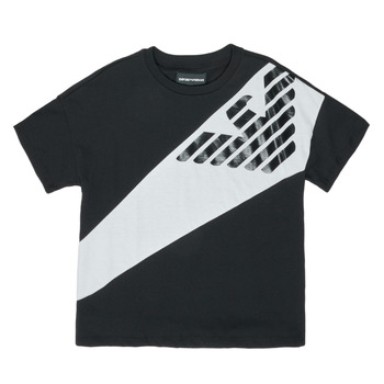 vaatteet Pojat Lyhythihainen t-paita Emporio Armani Blaise Black / White