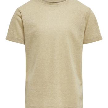 vaatteet Tytöt Lyhythihainen t-paita Only KONSILVERY Kulta