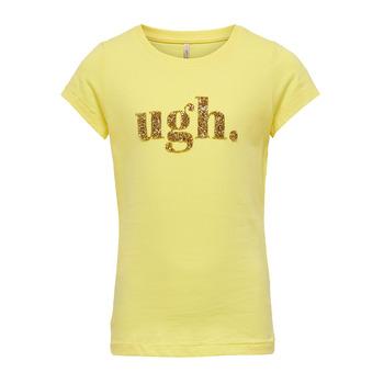 vaatteet Tytöt Lyhythihainen t-paita Only KONJULLA Yellow
