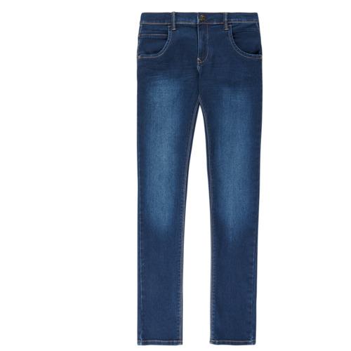 vaatteet Pojat Slim-farkut Name it NITTAX Blue