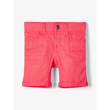vaatteet Pojat Shortsit / Bermuda-shortsit Name it NMMSOFUS TWIISKA Punainen