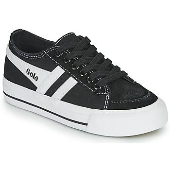 kengät Lapset Matalavartiset tennarit Gola QUOTA II Musta / Valkoinen