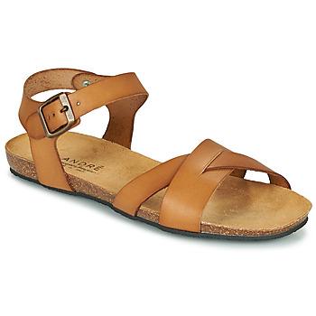 kengät Naiset Sandaalit ja avokkaat André BREHAT Camel
