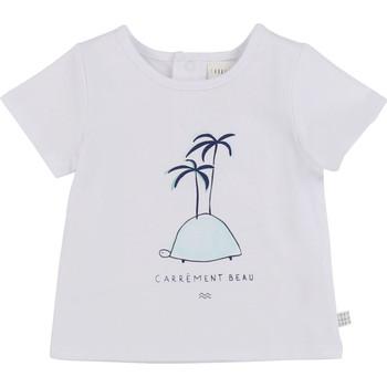 vaatteet Pojat Lyhythihainen t-paita Carrément Beau MARTINEZ Valkoinen