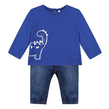 vaatteet Pojat Kokonaisuus 3 Pommes GABRIEL Sininen