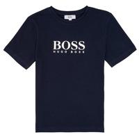 vaatteet Pojat Lyhythihainen t-paita BOSS PILIO Blue
