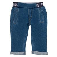 vaatteet Pojat 5-taskuiset housut Timberland VALENTIN Sininen
