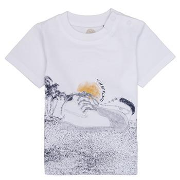 vaatteet Pojat Lyhythihainen t-paita Timberland ANTONIN Valkoinen