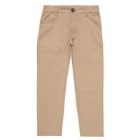 vaatteet Pojat Chino-housut / Porkkanahousut Timberland HECTOR Beige