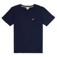 vaatteet Pojat Lyhythihainen t-paita Lacoste JOSEPHE Laivastonsininen
