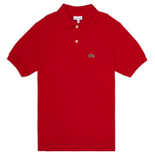 vaatteet Pojat Lyhythihainen poolopaita Lacoste ANAICK Red