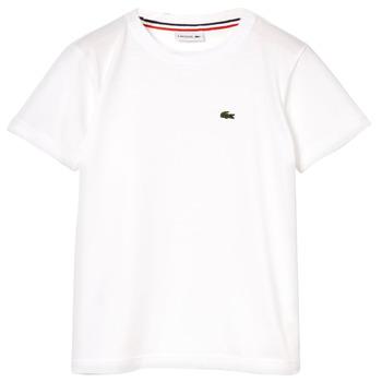 vaatteet Pojat Lyhythihainen t-paita Lacoste ALIZE White
