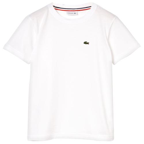 vaatteet Pojat Lyhythihainen t-paita Lacoste APAULINE White