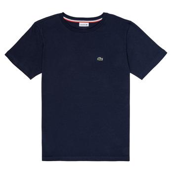 vaatteet Pojat Lyhythihainen t-paita Lacoste KETLEEN Laivastonsininen