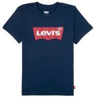 vaatteet Pojat Lyhythihainen t-paita Levi's BATWING TEE Laivastonsininen
