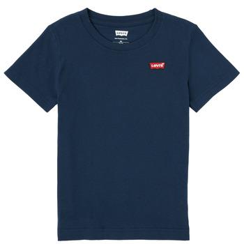 vaatteet Pojat Lyhythihainen t-paita Levi's BATWING CHEST HIT Laivastonsininen