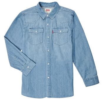 vaatteet Pojat Pitkähihainen paitapusero Levi's BARSTOW WESTERN SHIRT Sininen