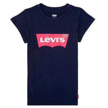 vaatteet Tytöt Lyhythihainen t-paita Levi's BATWING TEE Laivastonsininen