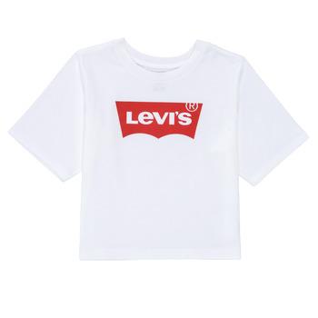 vaatteet Tytöt Lyhythihainen t-paita Levi's LIGHT BRIGHT HIGH RISE TOP Valkoinen