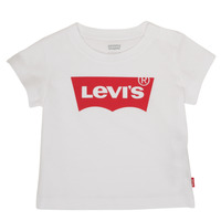 vaatteet Pojat Lyhythihainen t-paita Levi's BATWING TEE Valkoinen
