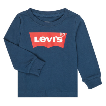 vaatteet Pojat T-paidat pitkillä hihoilla Levi's BATWING TEE LS Laivastonsininen