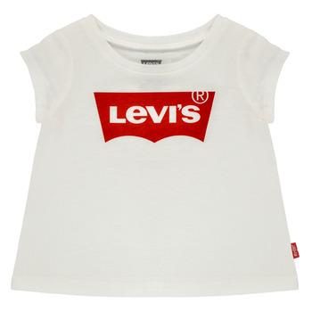 vaatteet Tytöt Lyhythihainen t-paita Levi's BATWING TEE Valkoinen