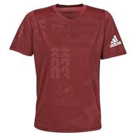 vaatteet Miehet Lyhythihainen t-paita adidas Performance DAILY PRESS TEE Red