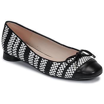 kengät Naiset Balleriinat Fericelli MARYA Musta / Harmaa / Valkoinen