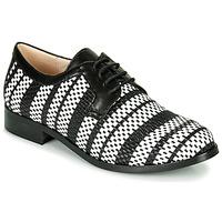 kengät Naiset Derby-kengät Fericelli MILEYNE Black / Harmaa / White
