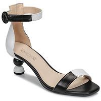 kengät Naiset Sandaalit ja avokkaat Fericelli MARC Musta / Harmaa / Valkoinen