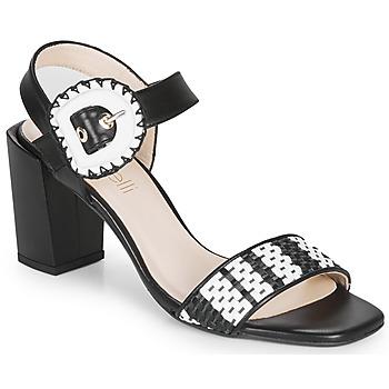 kengät Naiset Sandaalit ja avokkaat Fericelli MAIRA Musta / Harmaa / Valkoinen