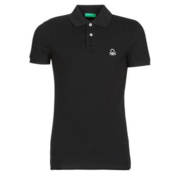vaatteet Miehet Lyhythihainen poolopaita Benetton MARNELLI Black