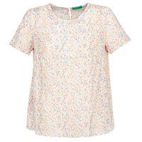 vaatteet Naiset Topit / Puserot Benetton DANIEL White / Multicolour
