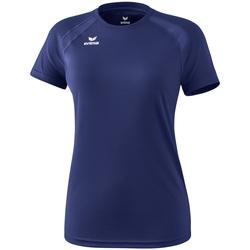 vaatteet Naiset Lyhythihainen t-paita Erima T-shirt femme  Performance bleu