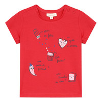 vaatteet Tytöt Lyhythihainen t-paita Catimini MUSIKOU Punainen