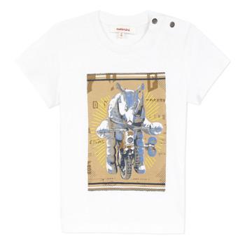 vaatteet Pojat Lyhythihainen t-paita Catimini LARIBI Valkoinen