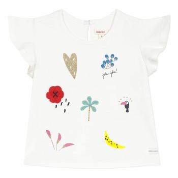 vaatteet Tytöt Lyhythihainen t-paita Catimini NADEGE Valkoinen