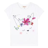 vaatteet Tytöt Lyhythihainen t-paita Catimini MAE Valkoinen