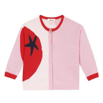 vaatteet Tytöt Neuleet / Villatakit Catimini LIANA Vaaleanpunainen