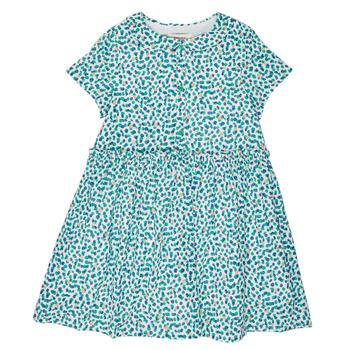 vaatteet Tytöt Lyhyt mekko Catimini ELLA Vihreä / Sininen