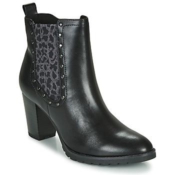 kengät Naiset Nilkkurit Caprice LUTIMA Black