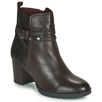 kengät Naiset Nilkkurit Caprice LUNITONE Ruskea