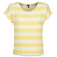 vaatteet Naiset Lyhythihainen t-paita Vero Moda  Yellow / White