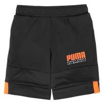 vaatteet Pojat Shortsit / Bermuda-shortsit Puma ALPHA JERSEY SHORT Black