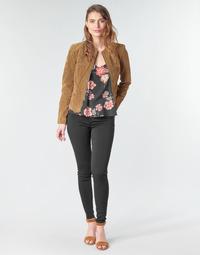 vaatteet Naiset 5-taskuiset housut Vila VICOMMIT Black