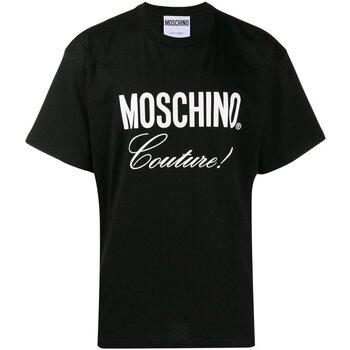 vaatteet Miehet Lyhythihainen t-paita Moschino ZA0710 Musta