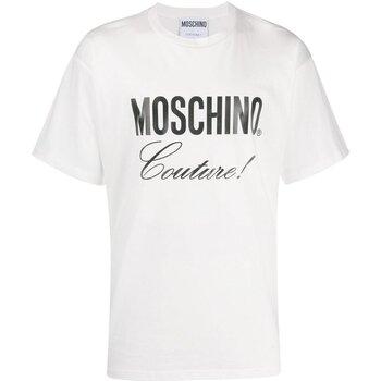 vaatteet Miehet Lyhythihainen t-paita Moschino ZA0710 Valkoinen