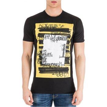 vaatteet Miehet Lyhythihainen t-paita Dsquared S71GD0741 Black