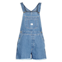 vaatteet Naiset Shortsit / Bermuda-shortsit Lee BIB SHORT Sininen / Washed